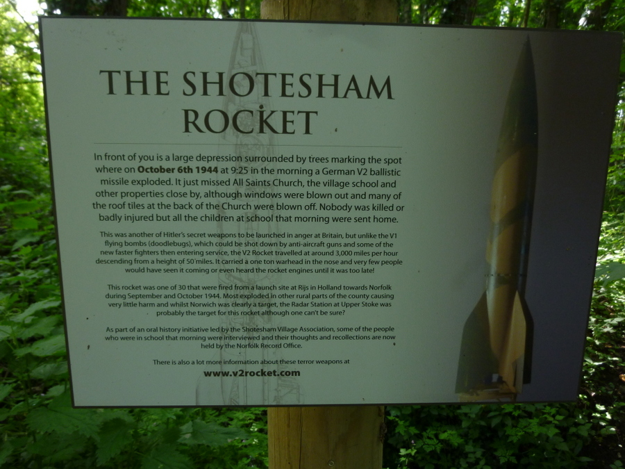 The Shotesham V2 Rocket